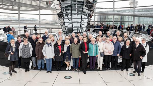 BPA-Gruppe in der Reichstagskuppel.